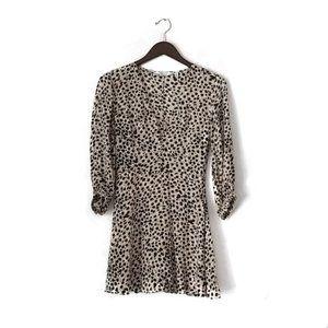 & Other Stories dot print mini dress size US 2